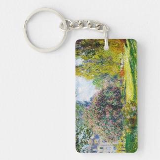 Parc Monceau, Paris Claude Monet Double-Sided Rectangular Acrylic Keychain