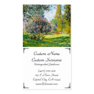 Parc Monceau, Paris Claude Monet Double-Sided Standard Business Cards (Pack Of 100)