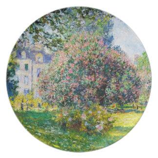 Parc Monceau, Paris Claude Monet Plate