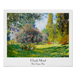 Parc Monceau, Paris Claude Monet Poster