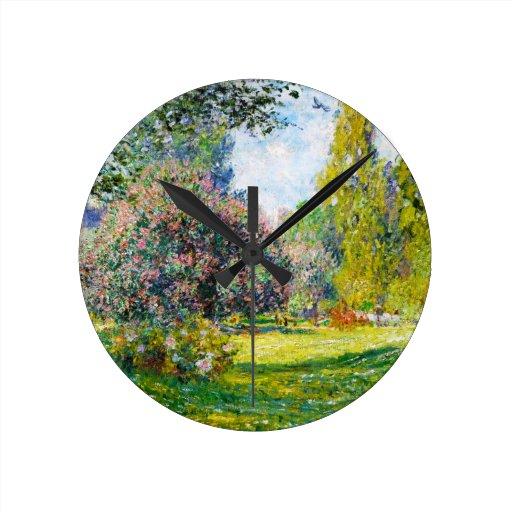 Parc Monceau, París Claude Monet Relojes De Pared