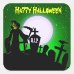 Parca asustadizo Halloween decorativo Pegatinas Cuadradases