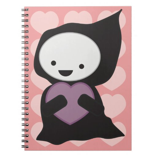 Parca con el cuaderno del corazón