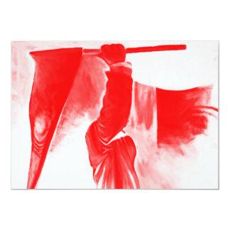 """Parca de la muerte, rojo teñido invitación 5"""" x 7"""""""