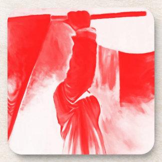 Parca de la muerte, rojo teñido posavaso