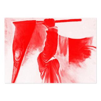 Parca de la muerte, rojo teñido tarjetas de visita grandes