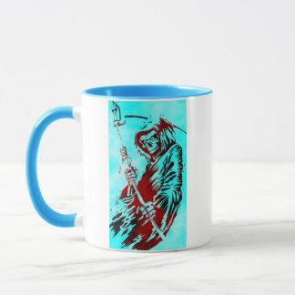 Parca en azul taza