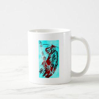 Parca en azul taza de café