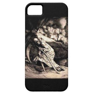 Parca en caso del iphone 5 del negro 1 iPhone 5 Case-Mate cárcasas