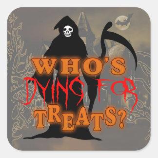 Parca Halloween GRHX Pegatina Cuadrada