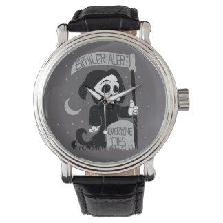 Parca lindo con la guadaña reloj