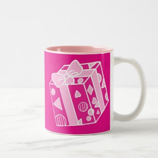 Parcel or Gift in Pinks for Her Mugs