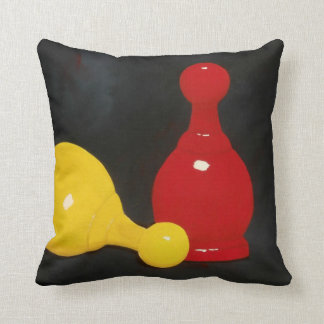 Parcheesi Markers Throw Pillow
