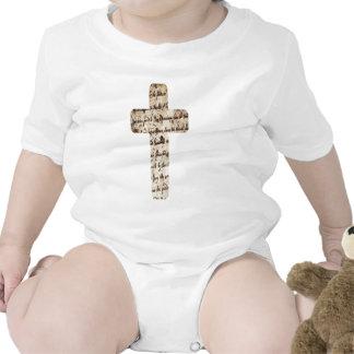 Parchemin de los écritures del sur de Croix Traje De Bebé
