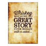Parchment 5x7 Table Sign Whiskey Because Card