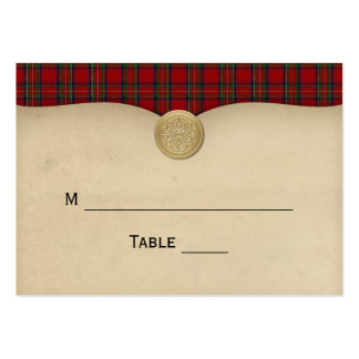Parchment and Tartan Wedding Place or Escort Card