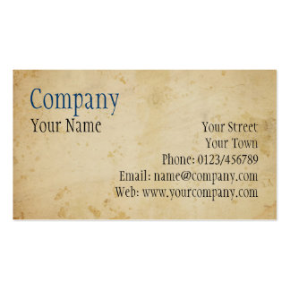 Parchment Business Card Template