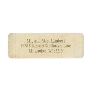 Parchment  Customizable Label