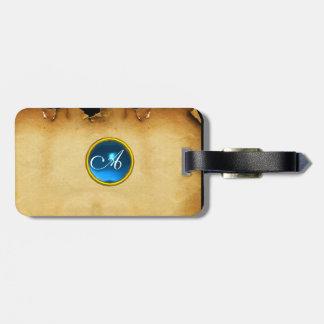 PARCHMENT GEM blue Bag Tag