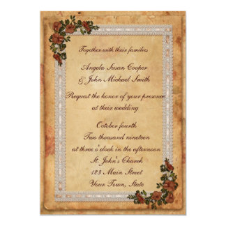 Parchment, Lace and Flowers Card