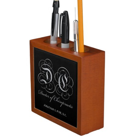 Parchment Letters Doctor of Chiropractic Pencil Holder