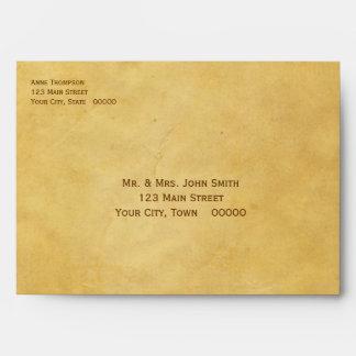 Parchment-Look, Autumn Tree Envelope