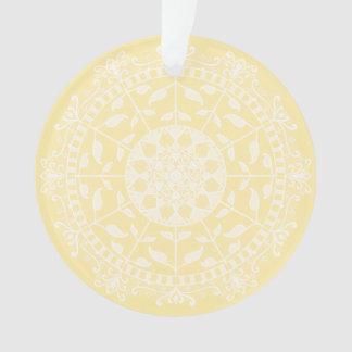 Parchment Mandala Ornament