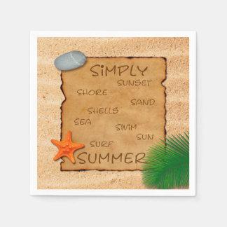 Parchment on Sand Background - Paper Napkin