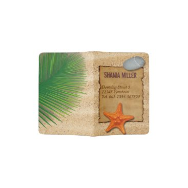 Parchment on Sand Background - Passport Holder