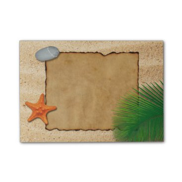 Parchment on Sand Background - Post-it® Notes