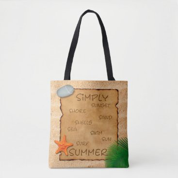 Parchment on Sand Background - Tote Bag