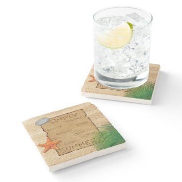 Parchment on Sand - Marble Stone Coaster