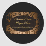 Parchment Oval Custom Business Seal Classic Round Sticker
