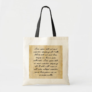 Parchment Paper Background Tote Bag