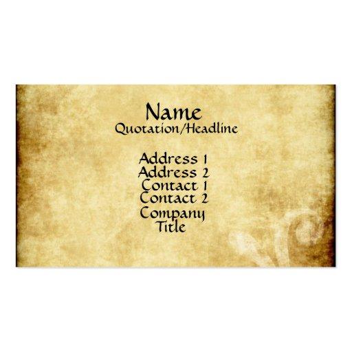 Parchment Paper Business Card