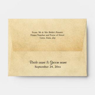 Parchment Pattern Design Wedding Envelope