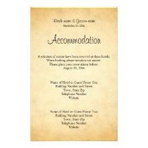 Parchment Pattern Design Wedding Flyer