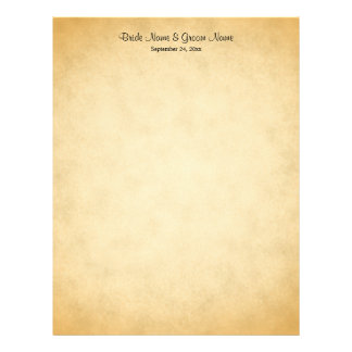 Parchment Pattern Design Wedding Letterhead