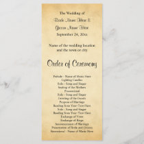 Parchment Pattern Design Wedding Program