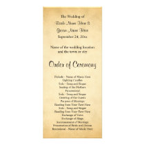 Parchment Pattern Design Wedding Program