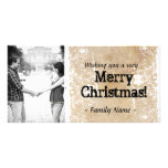 Parchment Photo Christmas Card Custom Photo Card