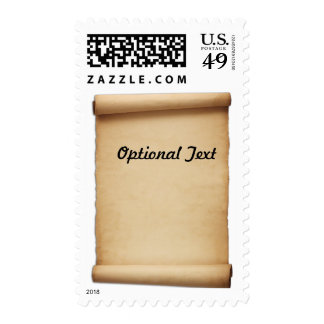 Parchment Proclamation Scroll Postage Stamps
