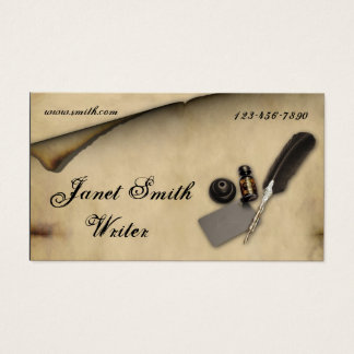 Parchment Quill Business Card
