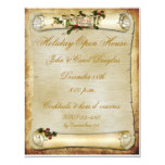 Parchment Scroll Holiday Invitation