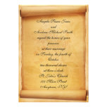 Parchment Scroll Wedding Invitation