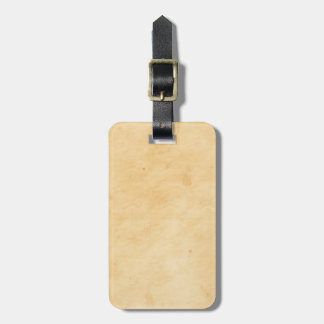 Parchment Stained Mottled Look Old Antique Bag Tag