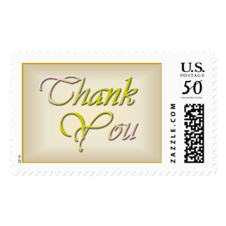 Parchment Style: Thank You 1 Postage