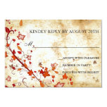 Parchment Swirls Maple Leaves Vintage Fall RSVP Personalized Invitations
