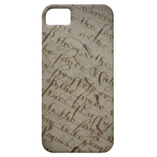 Parchment text with antique writing old paper iPhone 5 case