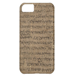 Parchment text with antique writing, old paper case for iPhone 5C